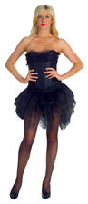 Tutu Black Short Front Long Back Costume Adult Women's Fancy Dress Underwraps