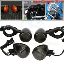 4x Motorcycle LED Turn Signal Light 41mm Front Rear Fork Clamp For Harley