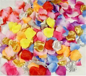 1000 Pcs Simulation Silk Rose Flower Petals Confetti Wedding Party Decoration