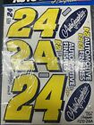 AUTOGRAPHICS NASCAR Winston Cup #24 JEFF GORDON Decals 1/10 RC10