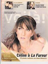 Celine Dion Mega Rare Magazine Voila April 2002 + Lasmaine Magazine Free
