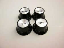 Black Gibson® Style reflector Knobs 2 volume, 2 Tone