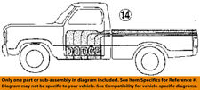 Dodge CHRYSLER OEM 1984 D150-Striping Kit-Stripe Tape 4293500