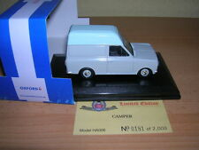 Oxford Bedford HA High Top Camper grau weiß, 1:43 Neu+OVP