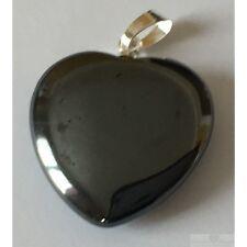 Pendentif coeur Hematite taille 2 cm