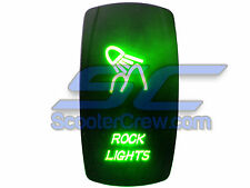 UTV Rocker Switch Green Led On Off Rock Lights Toggle Cube 5 prong Dune Sand