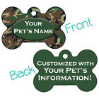 Green Camo Double Sided Pet Id Dog Tag Personalized for Your Pet