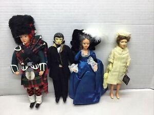 Lot of 4 Peggy Nisbet Collectors Costume Dolls England Queen Elizabeth II + More