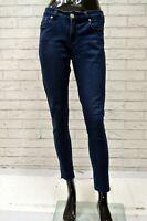 Jeans SAN ANTONIO Donna Taglia Size 38 Pantalone Pants Woman Slim Fit Cotone Blu