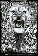 Grateful Dead - Santana - Steppenwolf - Fillmore West 1968 - Poster 13 x 19 NICE