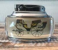 Vintage Ronson Trophy Table Lighter - Antique Carriage Horse Drawn Buggy