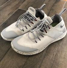 Womens Gray & White NIKE FREE RN CMTR 2017 Utility Sneakers Shoes AH6841 Sz 8
