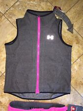 NWT Under Armour UA Infrared Fleece ColdGear Gray Sports Vest Youth Girls XL YXL