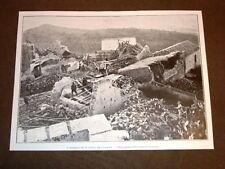 Terremoto in Calabria 23 ottobre 1907 Veduta generale delle rovine di Ferruzzano