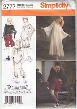 Steampunk Arkivestry Dress Bloomers Top Costume Simplicity 2777 Sew Pattern 6-12