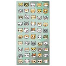 Lindo Gato Cara Pegatinas Kitten Animal Hoja Kawaii Niños Manualidades Scrapbook