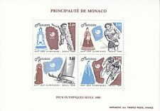Monaco Bl. 40** (1874-1877**) Olympia 1988 in Seoul / 올림피아 서울