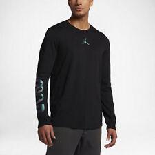 Nike Men's Jordan Air Up Long Sleeve All Star Shirt 2Xl Black Casual Gym New