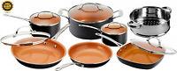 12 Piece Saucepan Pots & Pans Frying Pan Gotham Steel Non Stick Cookware w/ Lids