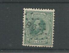 Nederland 25H  Willem III 1872 VFU/gebr  CV 55 €