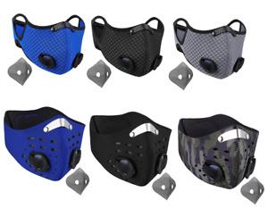 NUUR Face Mask Adults Dual Air Filtration Valve Soft Plastic Nose Clip Strap