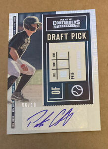 PETE CROW-ARMSTRONG 2020 Contenders Draft Pick Ticket Building Blocks AUTO /10
