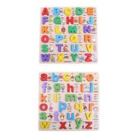 Wooden Alphabet English Letters Jigsaw Puzzle Children Kids Educational Toy #8Y