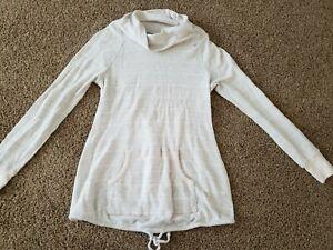 Size Small Maternity Shirt, Long Sleeve Pink Gray Maternity Top, Waffle Knit