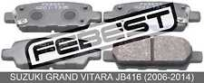 Pad Kit, Disc Brake, Rear For Suzuki Grand Vitara Jb416 (2006-2014)