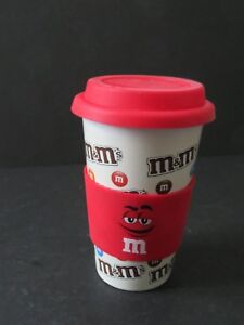 M&M Travel Mug Ceramic Car Cup with Rubber lid (F-2)