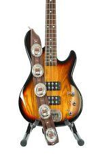 Large Conch Guitar Strap Genuine Leather Guitar/Bass USA Handmade -Brown Saddle