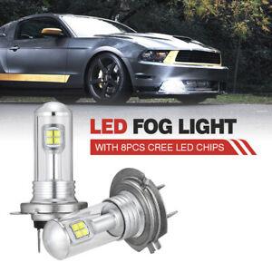 NIGHTEYE 2Pcs 160W 3000LM H7 Car LED Fog Light Driving Daytime Lamp Bulbs DRL AU