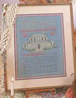 A Country Home Sampler Cross Stitch Pattern House Stitch 3 ways Alma Lynne 1986