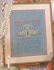 A Country Home Sampler Cross Stitch Pattern House Stitch 3 ways Alma Lynne 1986