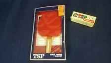 Vintage 1985 TSP Yoshino Table Tennis Racket Atlas Rubber & Ping Pong Balls NOS