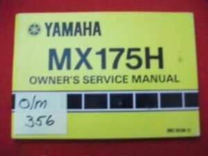 VINTAGE 1981 YAMAHA MX175H FACTORY ISSUED OWNER'S MANUAL-OEM HTF COLLECTIBLE EXC