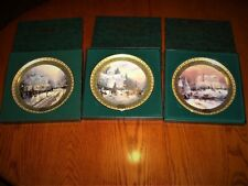 Thomas Kinkade First 3 Christmas Collector Plates Boxed with Certificates!