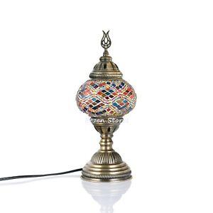 Turkish Moroccan Mosaic Table or Bedside Lamp,mosaic lamp Big Globe Rug Pattern