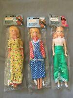 3x Marion 29cm Modepuppe mit schönem Outfit / Moden - Vintage Puppe Ovp NrfB