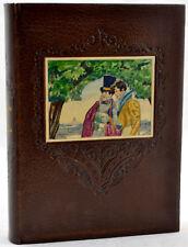 Graziella LAMARTINE 1931 Belle ill. BRUNELLESCHI 2 aquarelles orig. sur reliure