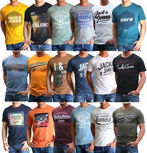 Jack and Jones Herren T-Shirt Regular Slim Fit Rundhals Print kurz Versandfrei