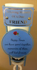 In Loving Memory Of A Dear Friend Grave Spike Flower Vase Memorial Tribute BHT