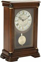 Seiko Mantel Chime with Pendulum Clock Brown Alder Case Ornamental QXQ008BLH