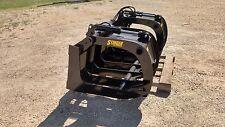 """New 75"""" Brush & Root Rake Grapple. Grade 50 Steel. Skid Steer, Tractor, Kubota"""