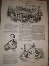 Launch Ship Blenheim East Indiaman at Newcastle 1848 print