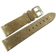 20mm ColaReb Firenze Swamp Tan Brown Distressed Leather Italian Watch Band Strap