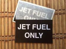 AIRCRAFT WING JET FUEL ONLY FILLER POINT DECALS