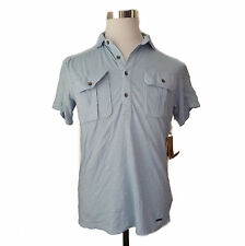DKNY men's polo shirt size S light blue new with tag made in INDIA