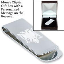 Albanian Albania Eagle Engraved Money Clip Gift
