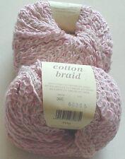 ROWAN COTTON BRAID Knitting Yarn/1 BALL/DEGAS (PINK)